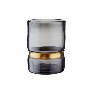 GRACE mécsestartó üveg/fém szürke
