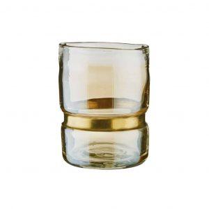 GRACE mécsestartó üveg/fém arany