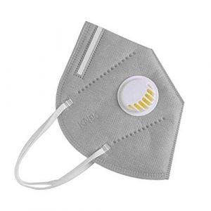 FFP2 szelepes maszk (szürke) – 10 db