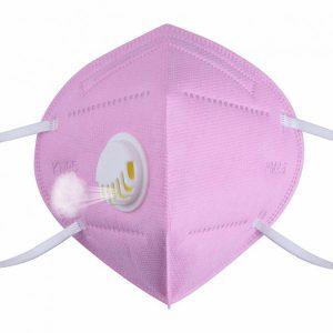 FFP2 szelepes maszk (rózsaszín) – 10 db