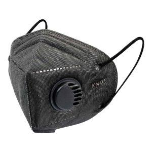 FFP2 szelepes maszk (fekete) – 10 db
