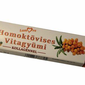 Homoktövises Vitagyümi szelet kollagénnel (30g)
