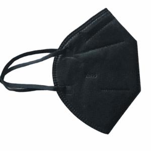 KN95/ FFP2 szelep nélküli maszk (fekete) – 1 db