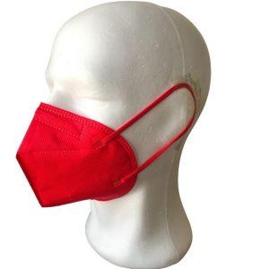 KN95/ FFP2 arcmaszk/ egészségügyi maszk  (piros) – 1 db